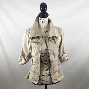 A X Armani Light-weight Jacket, Khaki Beige, Small